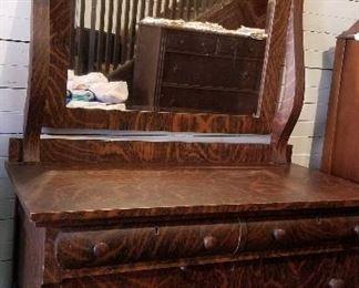 Antique Dresser/Mirror