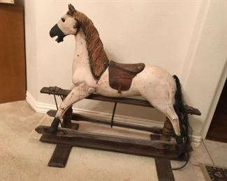 Fabulous Antique wood Rockinghorse