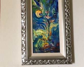 Contemporary artist JD Miller original artwork. Straight from his parents home a personal collection