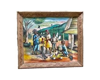 Painting by noted Haitian artist Augustin.