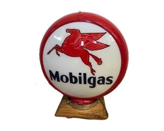 Mobil Gas table top lamp (issued by Mobil Oil).