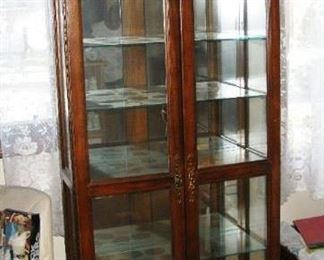tall curio cabinet   BUY IT NOW $ 125.00