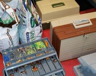 Tackle boxes filled with tackle practically brand new!