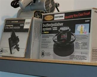 Belt sander, buffer/polisher,  more