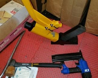 Brad nailer, Bostitch floor nailer with hammer