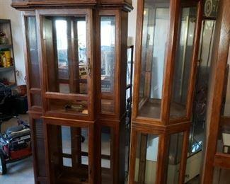 Curio cabinets galore!!!