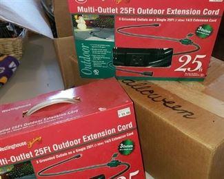 Outdoor Extension cords NIB.