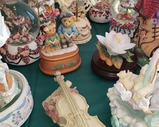 Music boxes.