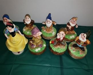 Snow White and 7 Dwarfs music box collection -- selling as a set.