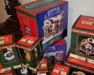 Coca-Cola Christmas ornaments.