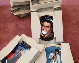 Large collection of Elvis Presley plates