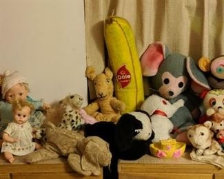 <3.  50s and 60s dolls & plush.  Plus the FABULOUS blow up monkey with blinker eyes.