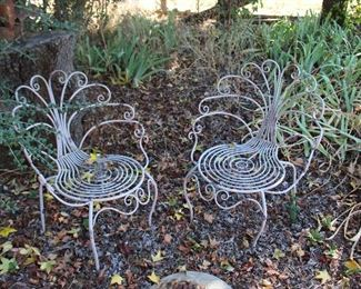 Metal decorative garden chairs