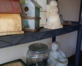 Birdhouses, yard schlock