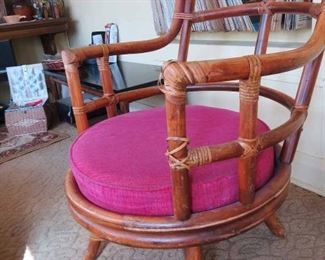 Vintage Rattan Occasional Chair