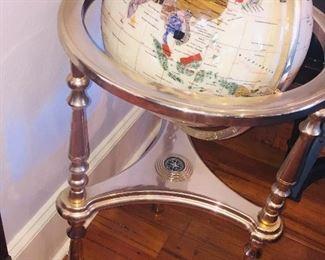 Semi Precious Stone Globe on Stand