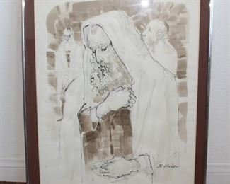 Rare Drawing   by listed artist  Benjamin C.Glicker