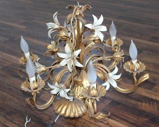 Vintage Italian chandelier Hollywood Regency style