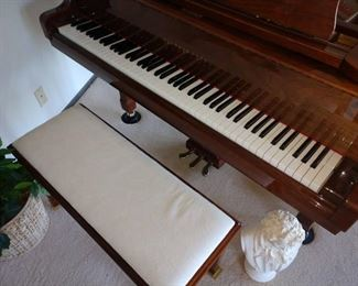 Living Room:  Sherman Clay Baby Grand Piano