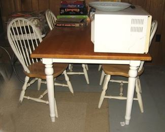 Wood Kitchen Table & 4 Chairs, there's TWO of these Table Sets in the Home