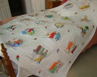 Hand painted biblical comforter