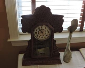 Clock Mantel with fret work