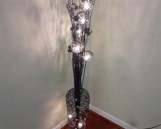 Modern floor lamp Floral theme
