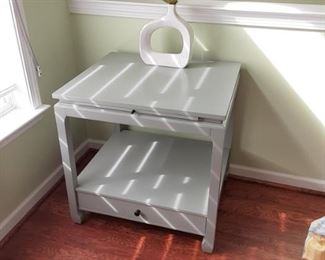 End table / writing desk has pull out area to write on