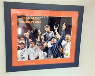 Detroit Tigers 2006 ALDS Champions photograph with 2 player autographs
