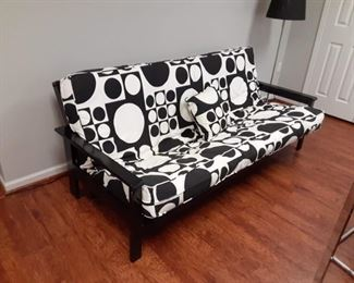Black and white modern style futon