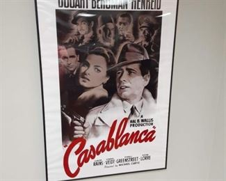 Casablanca movie theater poster