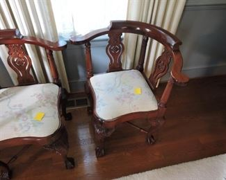 Corner Chairs - Chippendale Style