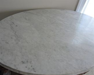 Parlor side table marble top very ornate. Marble top