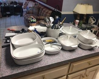 Loads of casserole dishes seldom used!