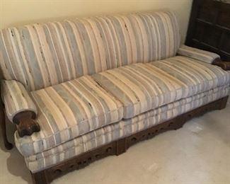 Circa 1930's Sofa with maching chair  ( very heavy sturdy frame)