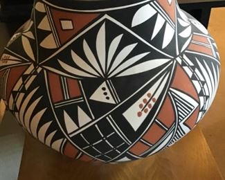 Native American hand signed pottery