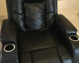 Leather recliner with cup holders.  There is a pair.