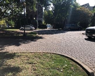 This is the small parking lot at the townhouse. This parking lot will be for handicap parking and loading only.