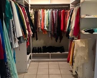 6 Closets full, 2 Clothes Racks with Designer clothes and more... Chanel,   Ming Wang,  St John,  Feraud, Eileen Fisher,  Dana Buckman, Lauren and more.....