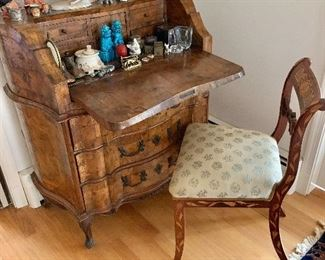 Antique desk open
