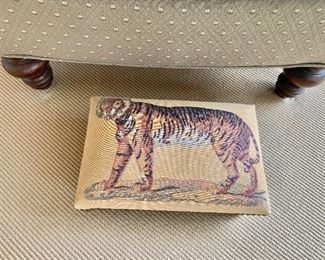 Tiger foot stool