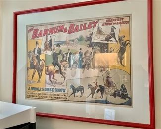 Circus poster framed