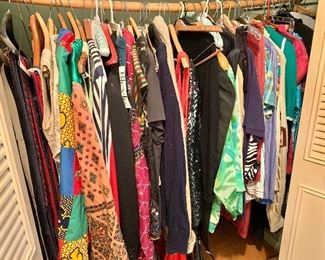 Colorful vintage clothing