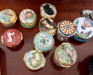 Enamel boxes, Many  Halcyon Days