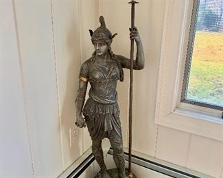 19th Century Metal Amazon Warrior Statue