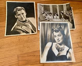 Errol Flynn , Olivia de Haviland signed photos
