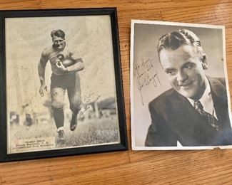 Bronko Nagurski , James Cagney signed photos