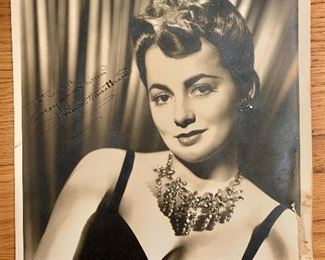 Olivia de Haviland signed photo