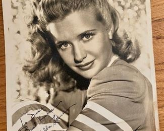 Priscilla Lane signed photo