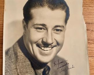 Don Ameche signed photo